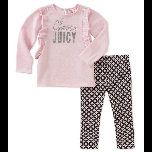 Juicy Couture Pink Choose Juicy Tee & Leggings